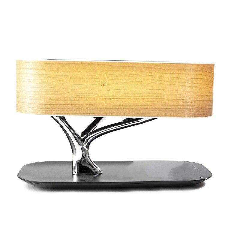 Haut-parleur de lampe d'arbre, haut-parleur de Bluetooth ou haut-parleur de Wifi/chargement sans fil (Qi)/lampe à LED/sommeil automatique, chargeur sans fil de téléphone portable