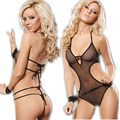 sexy transparent clear gauze bandage tie open crotch Home  sexy lingerie sets hot wholesale