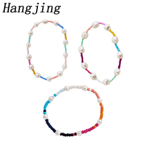 trendy new colorful elastic adjustable Multicolor 2019 New Fashion Charm pearls Beads Bracelets set For Women Jewelry Gift hot