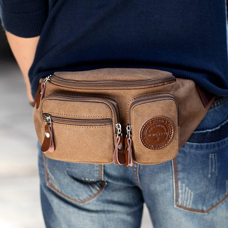 Waist Bags Men's Casual Waist Pack Purse Mobile Phone Case for Men's Travel Belt Wallets