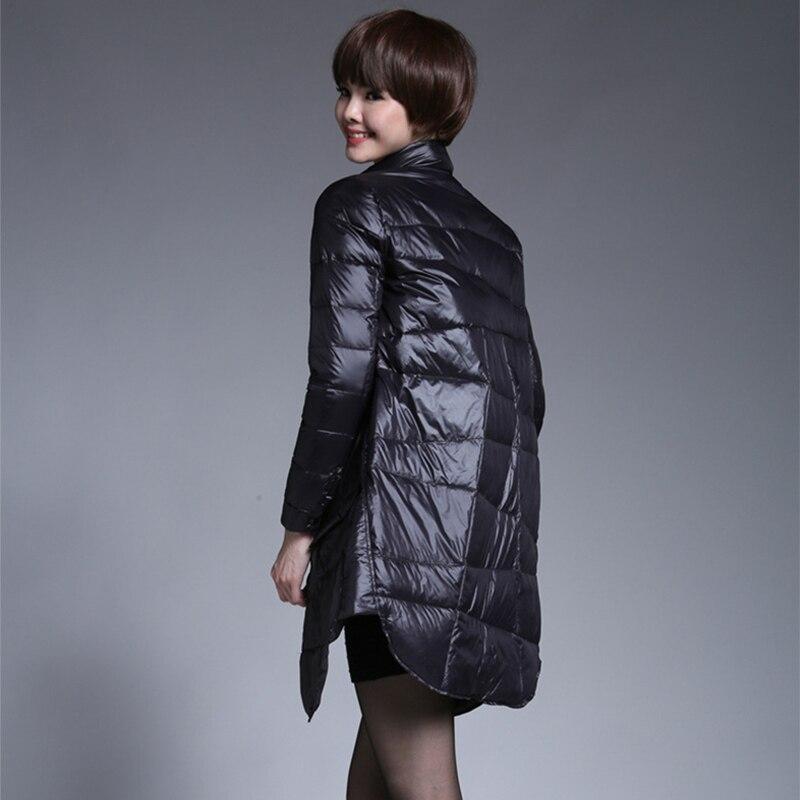2018 Autumn Winter Jacket Women Coats Slim Down Jacket Long Sections Duck Down Winter Down Jacket Female Long Wadded Parka 50