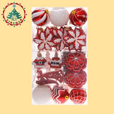 Bola de Navidad adornos Gif Set bolsa bola colorido adornos con letras Merry Christmas Set palline natale árbol de Navidad bolas colgantes