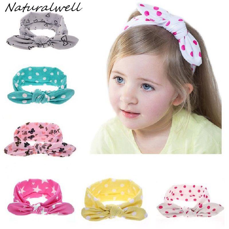 Naturalwell 7pcs Boutique Bebes Moda Knotted Bow Head Bands Niñas - Ropa de bebé