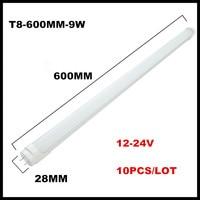 10PCS LOT 9W 2FT LED Tube Light T8 G13 Fluorescent Lamp 600MM 9W LED Solar Tube