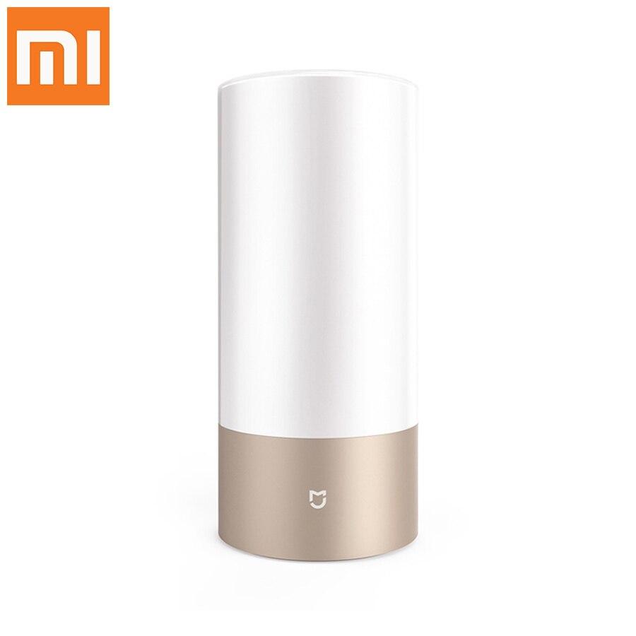 Original Xiaomi Yeelight Mijia Smart Lights Indoor Bed Bedside Lamp 16 Million RGB Lights Touch Control Bluetooth For Mijia APP original xiaomi yeelight bedside lamp rgb wireless touch control night light for cellphone