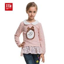 Filles chemises automne printemps poupée col à manches longues sous-vêtements avec dentelle vêtements filles basant la chemise