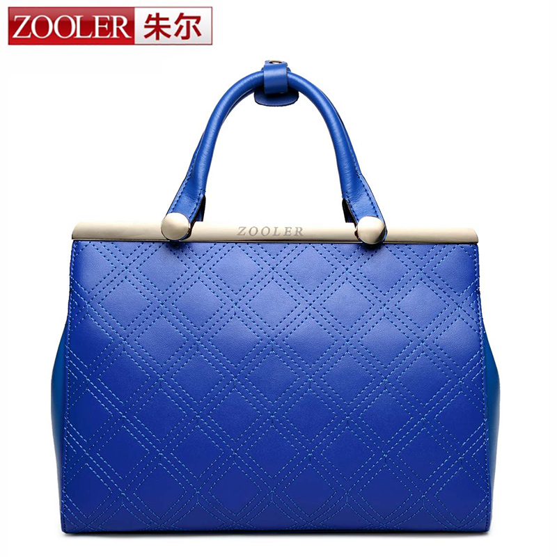 2017 New genuine leather bag women shoulder bags plaid top quality superior cowhide leather handbag Classic bag blue bolsos#1622 dream 2016 new arrival plaid cowhide handbag women s bag