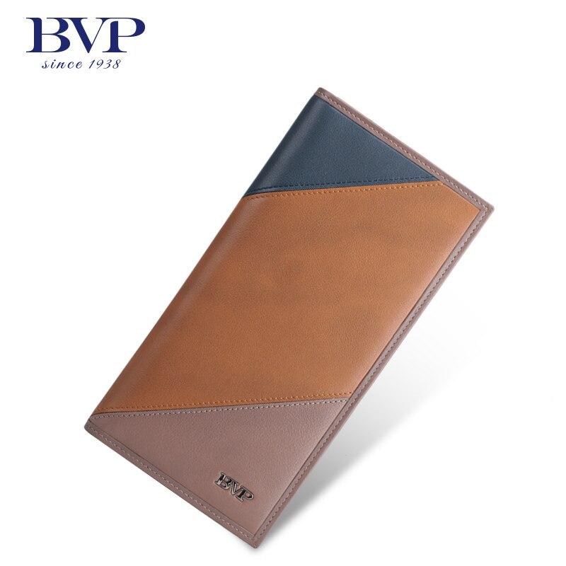BVP High-end Branded Men Genuine Leather Cowhide Slim Bifold Wallet Organizer Purse Credit Card holder Business Purse Q508