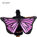 New Design Soft Fabric Butterfly Wings Printed Fairy Ladies Nymph Pixie Costume Accessory High Quality Women Scarves Dec 19