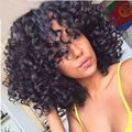 Fashion Afro Kinky Curly Wig Short Wigs for Black Women With Baby Hair Afro Black Synthetic Wigs Short Pixie Cut Wigs Natural