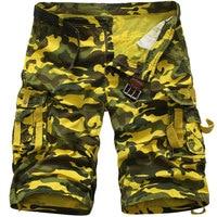 Men S Camouflage Cargo Fashion Short Pant Multi Pockets Loose Fit Summer Pants Casual Men S