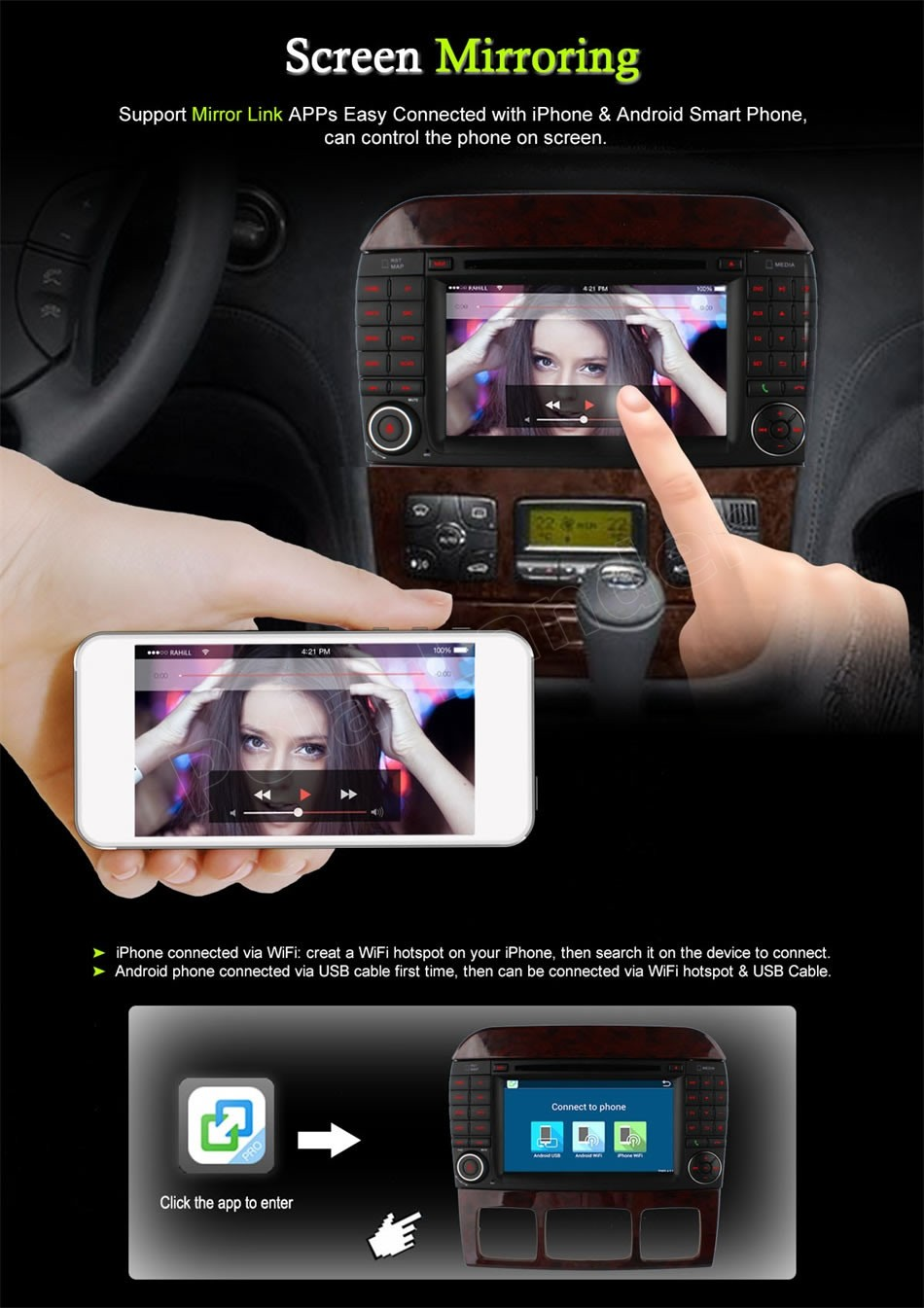 Android 6.0 CAR DVD player for Me/rcedes B-ENZ S CL C/ass W220 W215 S280 S320 S430 S500 car audio stereo Multimedia GPS