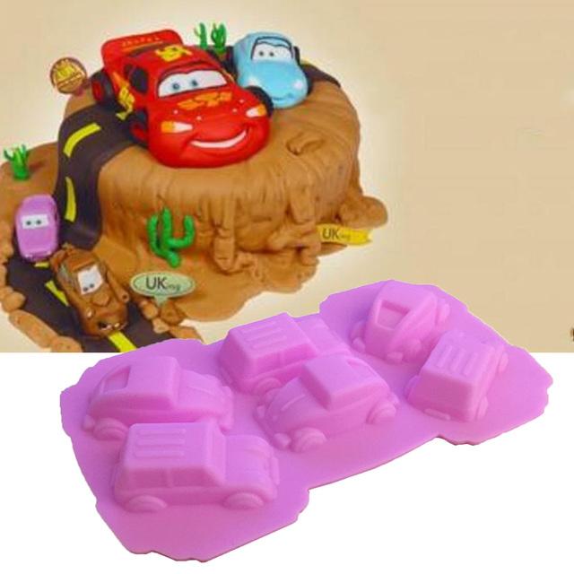 1PCS Carton Cars Shape Silicone Cake Mold Fondant Mold, Jelly,Candy, Chocolate soap Mold, Decorating Bakeware K050