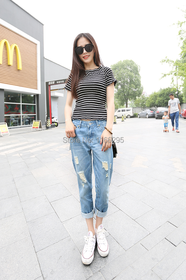 Casual Korean Street Style Fashion Women Denim Loose