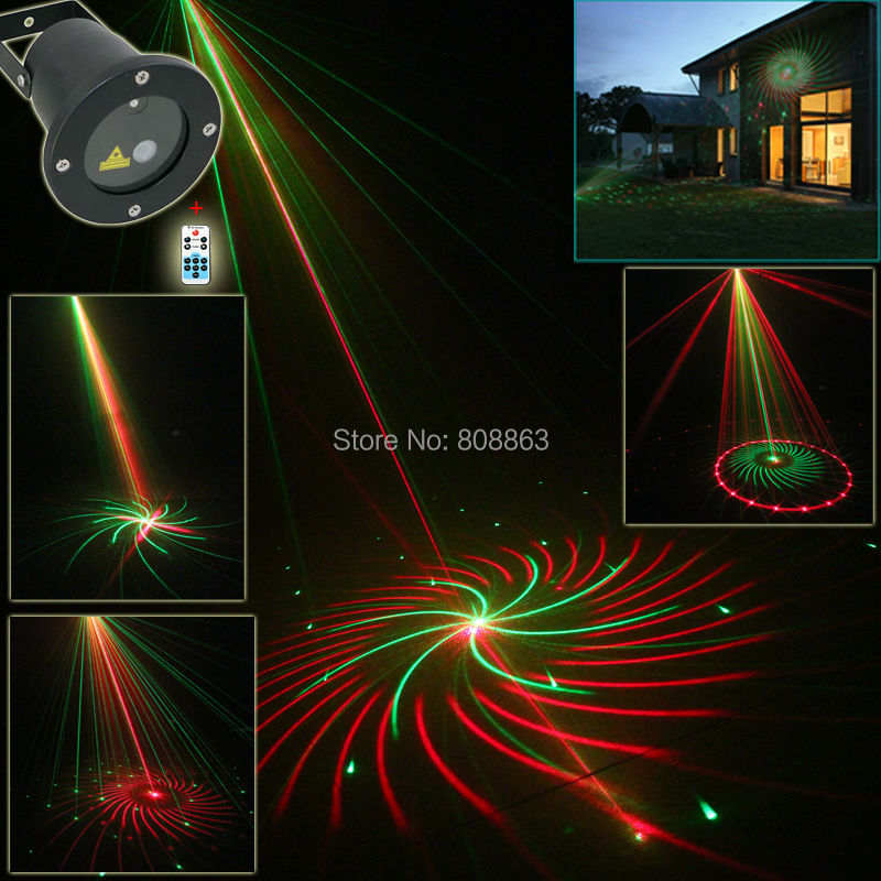 New Ru0026G Laser Outdoor Waterproof 12 Patterns Projector Landscape Club Home  Party Holiday Christmas Tree Garden Xmas Light B194
