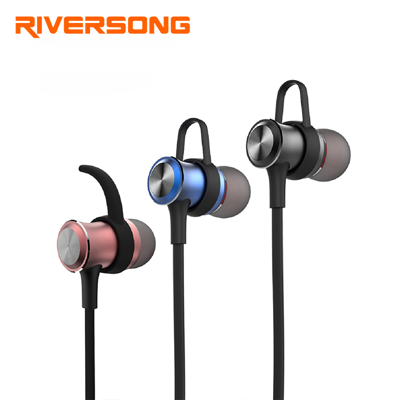 RIVERSONG A01 Wireless Bluetooth Earphone Headphones Magnet Design Sport Sweatproof with Mic Raindrop Stereo Headset For Phone huast v4 1 sport bluetooth earphone with mic wireless headphones bluetooth headset magnet earbuds for phone noise cancelling