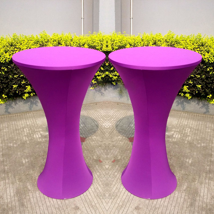 Superbe Free Shipping 10pcs Purple Round Based Lycra Spandex Cocktail Table Cloths  Elastic Stretch Bar Table Covers For Party Wedding In Tablecloths From Home  ...