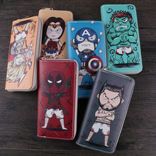 Wallets Cartoon Marvel Hero Collection Deadpool Hulk Money Purse Flashman Spiderman Thor Captain America Purse For Coins B553 comics marvel super hero wallets leather card holder bags purse anime cartoon deadpool captain america gift kids short wallet