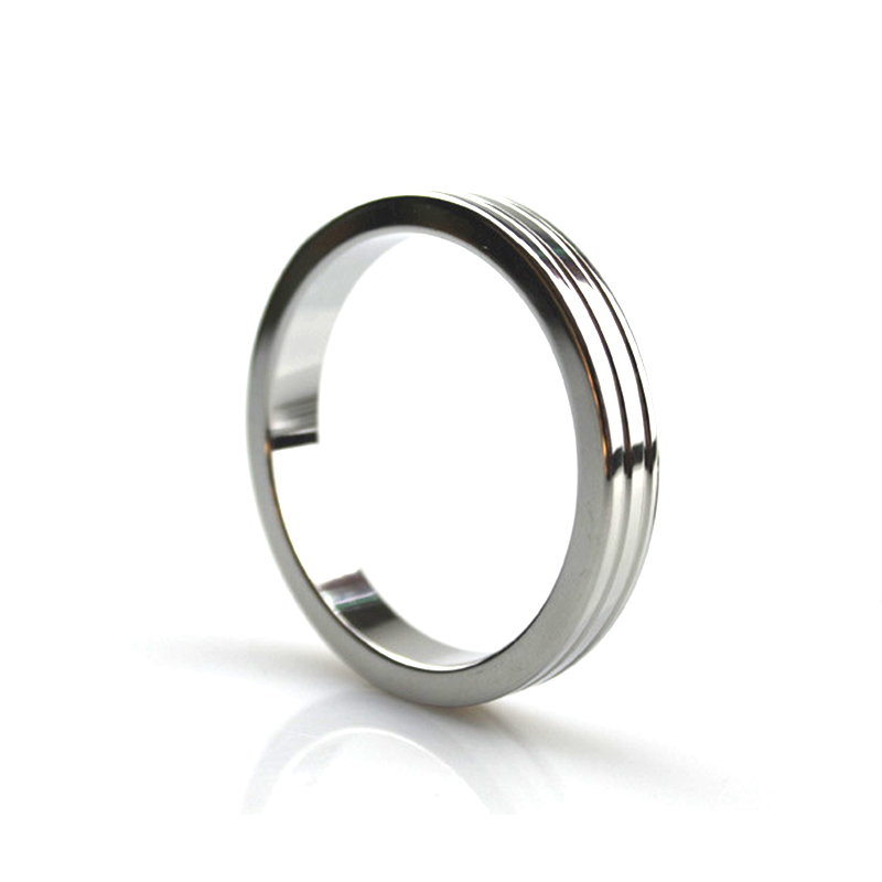 Buy 40MM 45MM 50MM Three Styles Stainless Steel Penis Ring Cock Ring Chastity Loops Male Scrotum Rings Sex Products Men Penis
