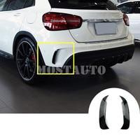 Black Rear Bumper Spoiler Air Vent Trim Cover For Benz GLA X156 GLA45 AMG 2013 2018 2pcs