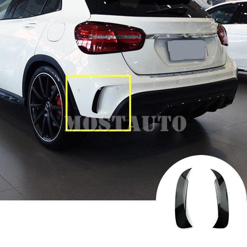 Revêtement d'habillage d'évent de becquet de pare-chocs arrière noir pour Benz GLA X156 GLA45 AMG 2013-2018 2 pièces