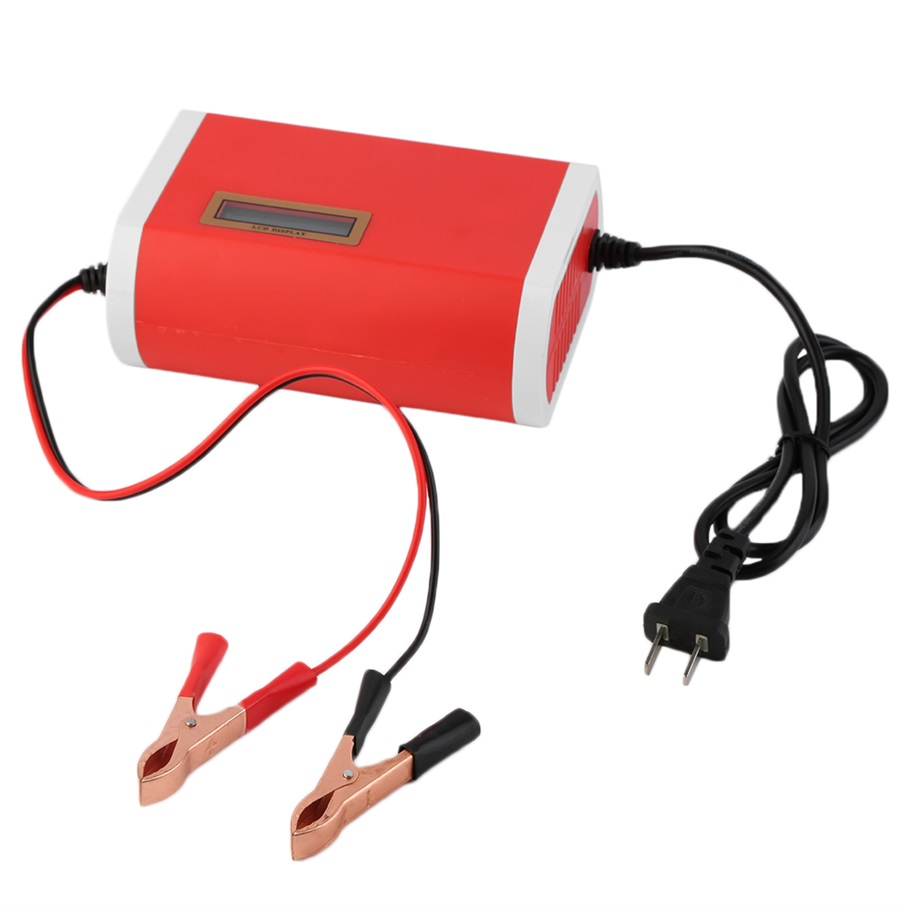 2016 New 1pc Red US Plug 12V 6A Car Motorcycle Battery Charger for 12-Volt Sealed Lead-Acid High Quality hot selling