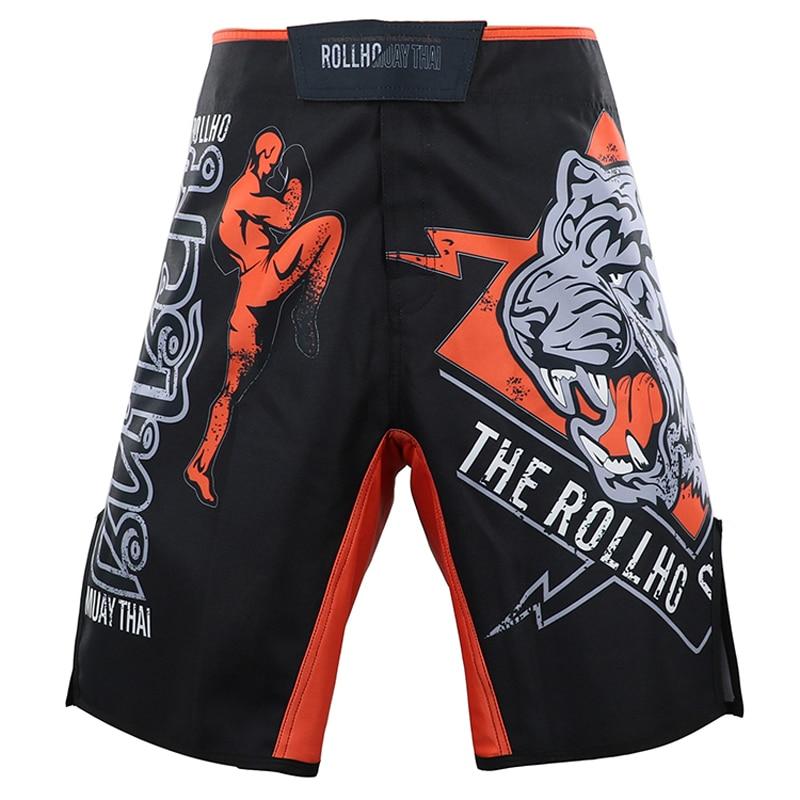 MMA Fighting Sports Print Shorts Men UFC MMA Training Fitness Jitsu Beach Shorts Running Muay Thai Summer Breathable Shorts Male