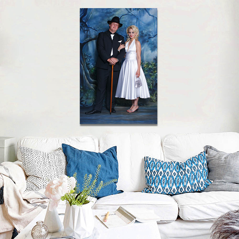 Unframed HD Canvas Prints Photographing Couple Prints Wall Pictures For Living Room Wall Art Decoration Dropshipping