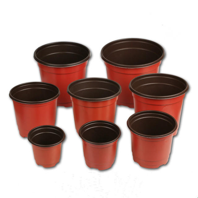Nursery Pots 100pcs Lot Seedlings Plastic Flowers Vase Plants Gardening Plant Grow Container Box Indoor
