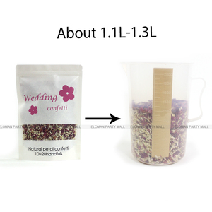 Image 4 - 100% natural wedding confetti ELOMAN dried rose flower petals confetti wedding and birthday party decoration biodegradable 1L
