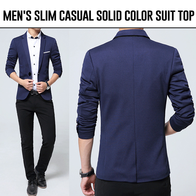 Men Jacket Casual L-3XL Business Blazer Men Faddish Pure Color Meeting Men'S Top Comfortable Spring Work Blazer Masculino Erkek