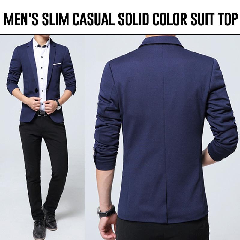 Men Jacket Casual L-3XL Business Blazer Men Faddish Pure Color Meeting Men'S Top Comfortable Spring Work Blazer Masculino Erkek