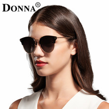 Donna Fashion Lady Sunglasses Metal Half Frame Sun glasses for Women Round Brand Designer Vintage Gold Frames Mirror UV400 Gafas