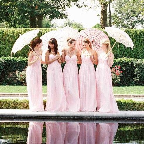 Cheap Blush Pink   Bridesmaid     Dresses   2019 robe demoiselle d'honneur A Line Sweetheart Chiffon Wedding Guest   Dress   Party Gowns