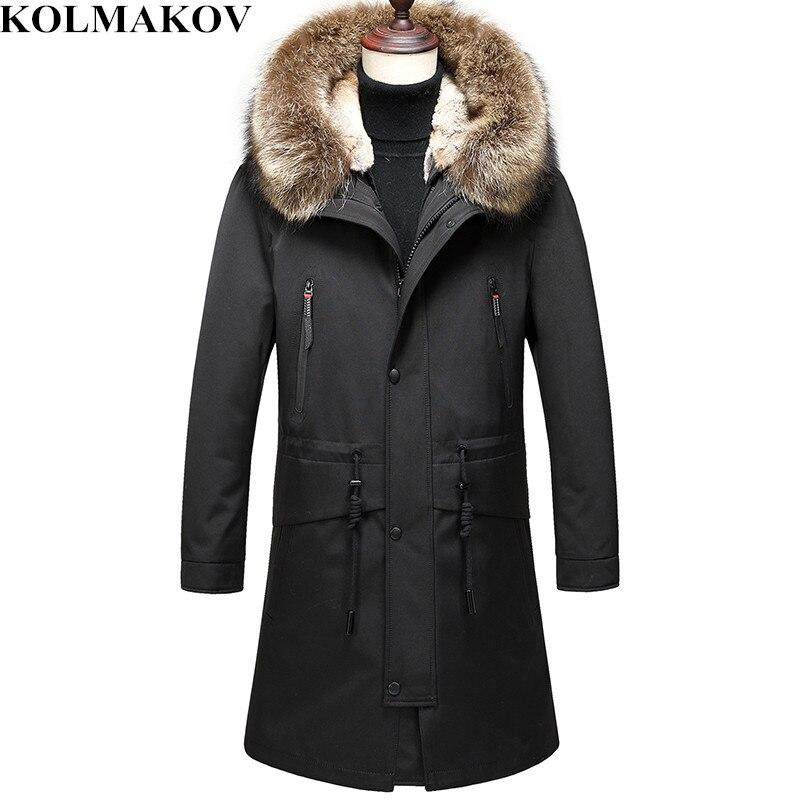KOLMAKOV Winter Down Coats Mens Thicken Parka Jackets Dress Men Detachable Fluff Liner Overcoat Parkas M-3XL Warm Outwear Male