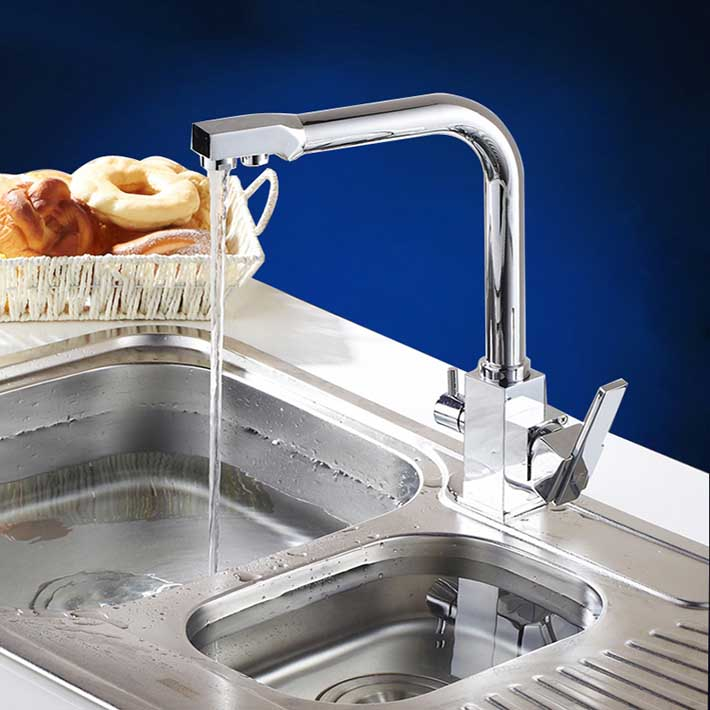 water purifier kitchen sink chrome finish 3 way kitchen water purifier faucets deck 7015