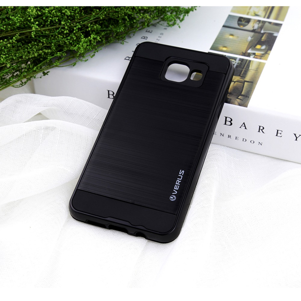 Luxury Shockproof Hybrid Tough Armor Brushed Back Cover Phone Cases For Samsung Galaxy A3 A5 A7 A310 A510 A710 (A3 2016)