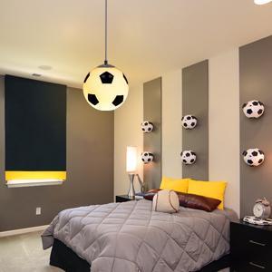 Modern Football Pendent Lamp Novelty Black And White Bedroom Hallway Lights Children's Room