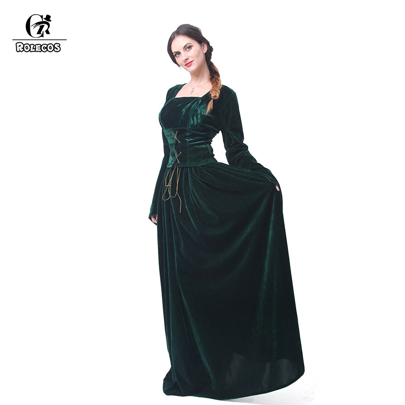 CHIC Womens Victorian Renaissance Square Neck 3//4 Sleeve Cosplay Medieval Dress