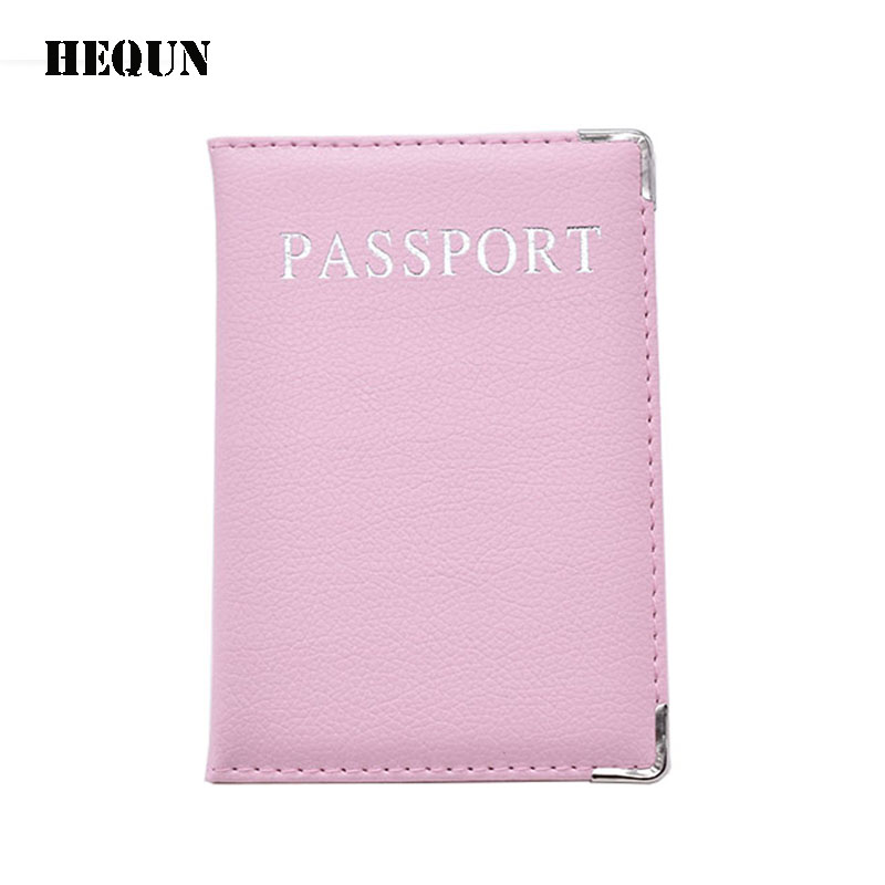 Fashion Traveling Pass Cover Rosa Kvinnor Solid Kvalitet Pu Läder Passport Holder Multifunktionell Gå Utland Passport Väska