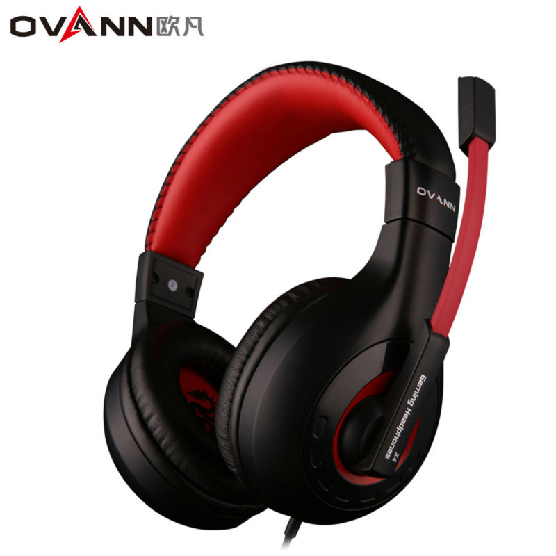 Ovann X4 Over-ear Game Gaming Headphone Wired Headset Earphone Headband with Microphone Stereo Bass Without LED Light for PC cd 618 crack led light cool headphone with microphone bass stereo headset earphone wired usb pro for computer gamer headband pc