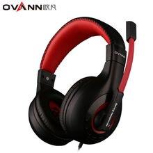 Ovann X4 над-уха игры Игровые наушники Проводная гарнитура наушники повязка с Микрофон Стерео Бас без свет для ПК