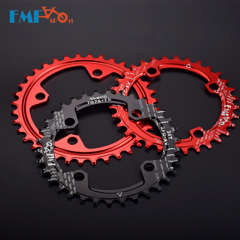 цена на FMFXTR Bicycle 96 BCD Single Speed Chain Wheel Sprocket Wheel 32T 34T 36T 38T Chainring For MTB Mountain Bike Road Bicycle