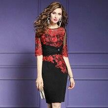 Офисное женское платье, хит, новинка, высшее качество, женские вечерние сексуальные платья в стиле пэчворк размера плюс, винтажные летние платья с цветами