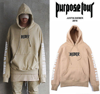 New Rare SOLD OUT Hoodie WESTERN STYLE FOR JUSTIN BIEBER PURPOSE TOUR Sand Hoody Sweatshirt Tops