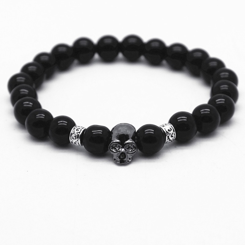 black-glossy-bead-bracelet-with-stone-skull-1