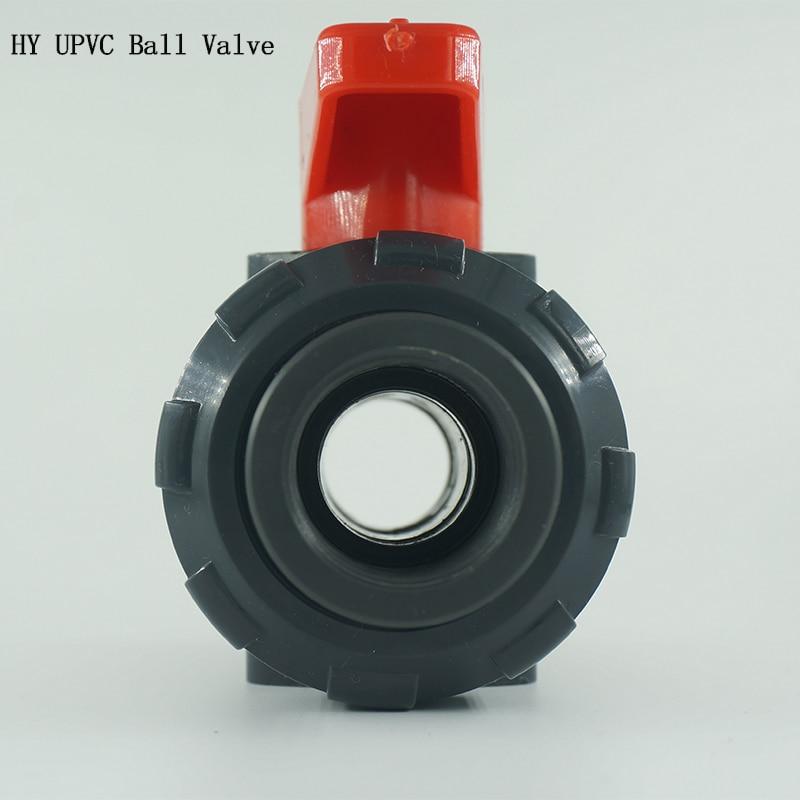 DN15 Manual Socket UPVC Plastic Ball Valve,   Plastic  Thread PVC Ball Valve