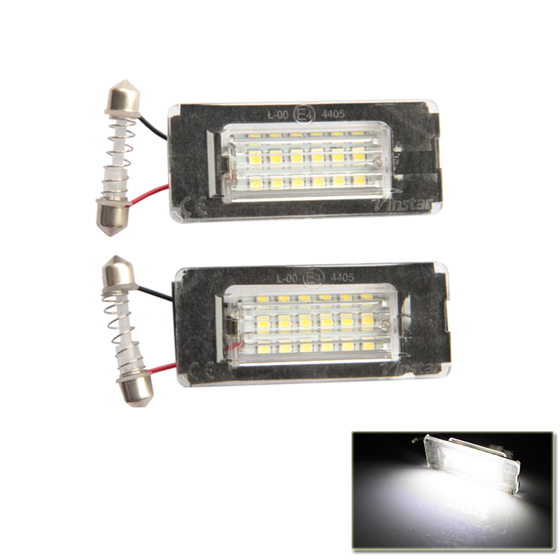 One Pair Canbus Error Free Led License Plate Light Number Plate For Bmw Mini Cooper R56 SMD Rear Tail Lights Ultra Bright White 4pcs super bright t10 w5w 194 168 2825 6 smd 3030 white led canbus error free bulbs for car license plate lights white 12v
