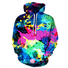 Harajuku Hipster Colorful Oil Painting 3D Print Hipster Hoodies Women/Men Gothic Streetwear Sweatshirts Clothes sudadera mujer худи print bar hipster