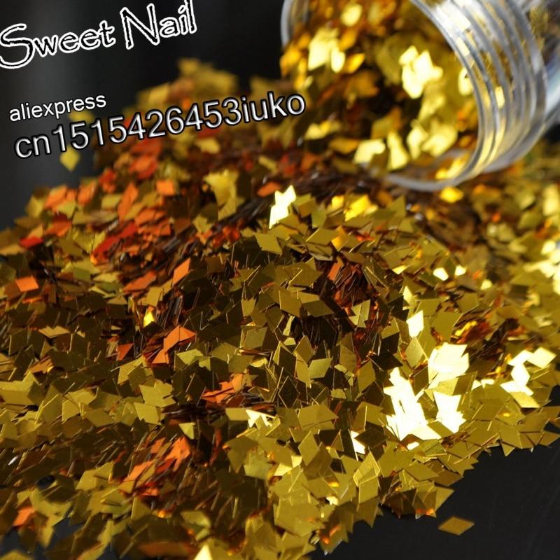 2019 moda encantadora lentejuelas brillantes diamante decoración de uñas 3D LEI pieza lentejuelas oro B0204
